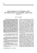 The incidence of systemic lupus erythematosus in baltimore maryland 19701977.