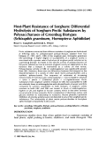 Host-plant resistance of sorghumDifferential hydrolysis of sorghum pectic substances by polysaccharases of greenbug biotypes Schizaphis graminum homopteraAphididae.