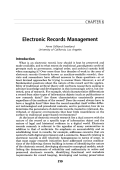 Electronic records management.