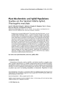 Plant biochemistry and aphid populationsStudies on the spotted alfalfa aphid Therioaphis maculata.