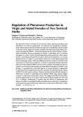 Regulation of pheromone production in virgin and mated females of two tortricid moths.