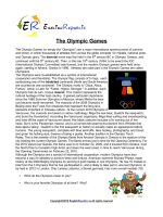 Olympic Games (English Topic)