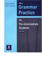 Elaine Walker (Longman) - Grammar Practice for Pre-intermediate Students