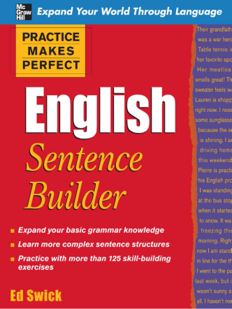 English Sentence Builder (Ed Swick, 2009)