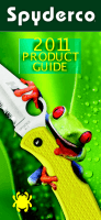 "Каталог ""Spyderco Product Guide 2011"""