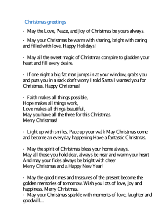 Christmas & New Year Greetings