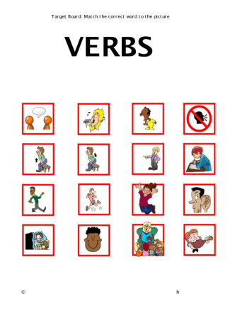 match verbs with pictures