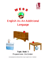 Topic Workbook 5 - Prepositions, On & Under