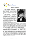 Angela Lansbury (English Biopic)