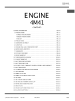 Mitsubishi engine 4M41 servicemanual