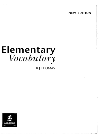 Elementary Vocabulary