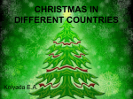 CHRISTMAS IN DIFFERENT COUNTRIES