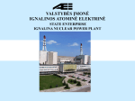 The presentation of the Lithuanian electricity producer