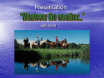 "Presentation Theme: ""The weather"""