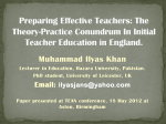 Theory and Practice in Teacher Education