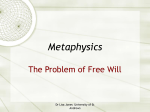 on Free Will - University of St Andrews