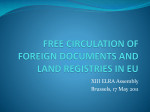 Free Circulation of Foreign Documents