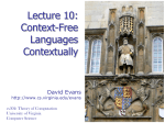Context-Free Languages - University of Virginia