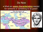 Ch 9 Sec 3 Alexander and the Hellenistic Age (ppt)