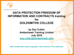 DATA PROTECTION FREEDOM OF INFORMATION AND