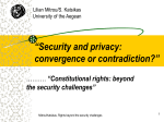 """Security and data protection: convergence or contradiction?"""