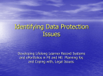 Identifying Data Protection Issues