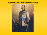 "Alexander II: ""The Great Reformer"""