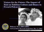 The Impact of Political Change on Tahitian Culture and Dance in