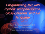 Programming 101 with Python: an open-source