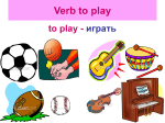 Verb to play