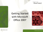 Getting Started with Office 2007