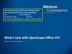 Whats new with OpenScape Office V3?