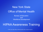 New York State Office of Mental Health Bureau of Education and