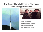 The Role of North Korea in Northeast Asia Energy