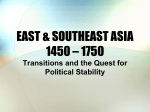 EAST ASIA 1450 – 1750