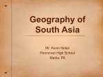 Geography of South Asia Powerpoint