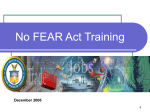 Department of the Treasury No Fear Act Training