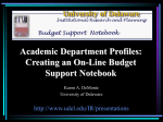 Academic Department Profiles: Creating an on