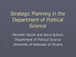 Strategic Planning in the Department of Political Science