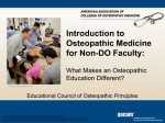 Introduction to Osteopathic Medicine for Non-DO Faculty