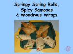 Spring Rolls, Samosas and Wraps