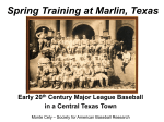 Spring Training in Marlin, Texas