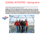 SCHOOL ACTIVITIES Spring term