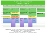 P1 Spring 2012 Course Schedule January 30