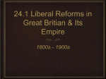 Reforms in Great Britain