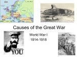 Causes of the Great War - Texas Law