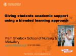 Academic Support Using a Blended Learning Approach