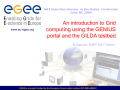 The EGEE project