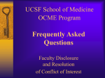 FAQ Faculty Disclosure and Resolution of Conflict of Interest