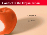 chapter 09: conflict in the organization